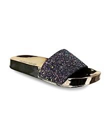 Olivia Miller Delray Chunky Glitter Pool Slide Sandals