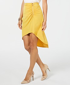 Thalia Sodi Ruched High-Low Skirt, Created for Macy's