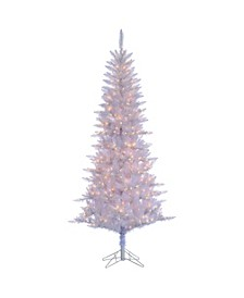 7.5 Ft. White Tiffany Tinsel Tree with 450 clear lights