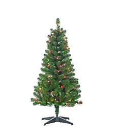 48-Inch High Southern Pine Pre-Lit Tree with Multi-Color Lights