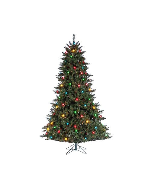 Sterling 7.5Ft. Pre-Lit Reno Pine Tree with 100 G40 Multi-Colored Glass Bulbs and 750 Multi-Colored Lights