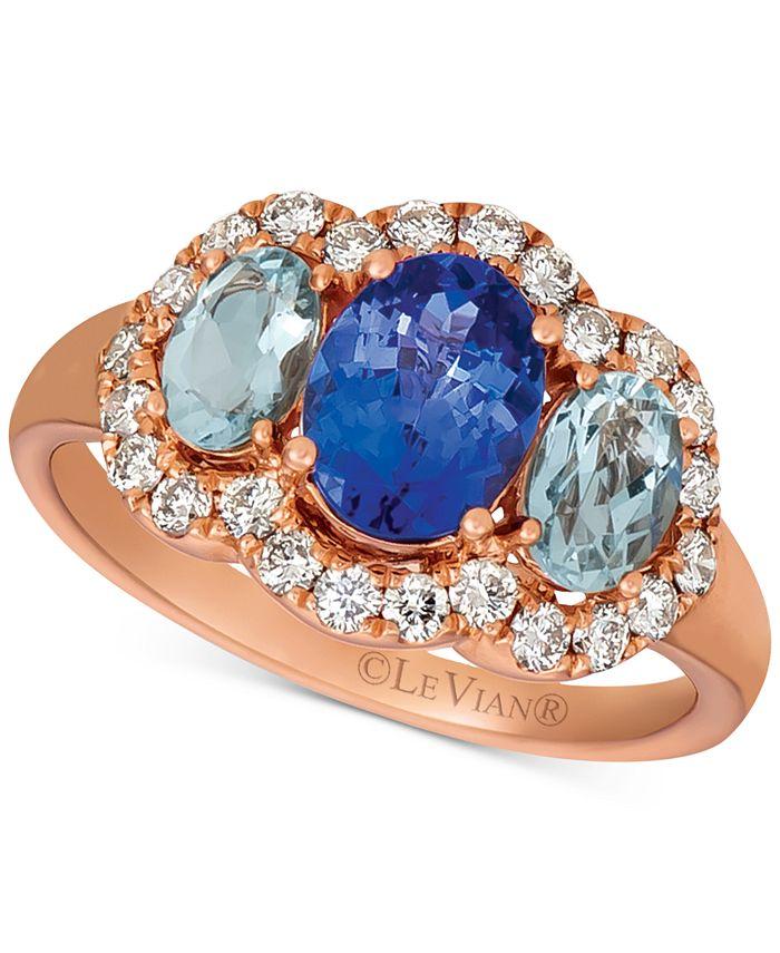 Le Vian - Multi-Gemstone (1-3/4 ct. t.w.) & Nude Diamond (1/2 ct. t.w.) Ring in 14k Rose Gold