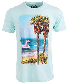 Univibe Men's Flamingo Beach Graphic T-Shirt