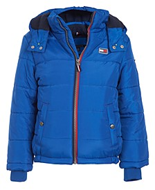 Big Boys Detachable Hood Puffer Jacket