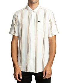 RVCA Men's Split Stripe Short Sleeve Shirt