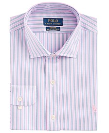 Men's Classic-Fit Wrinkle-Resistant Stripe Dress Shirt