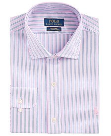 Polo Ralph Lauren Men's Classic-Fit Wrinkle-Resistant Stripe Dress Shirt