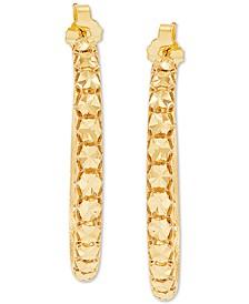 Effy Oro by EFFY® Bead-Design Hoop Earrings in 14k Gold