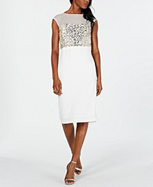 Mesh Sequin Bodycon Dress