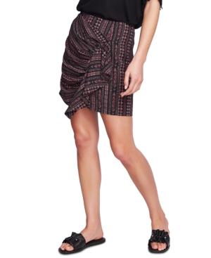 1.state Ruffle Front Mini Skirt