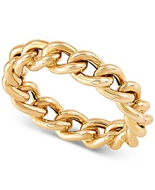 Chain Link Ring in 14k Gold