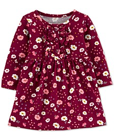 Baby Girls Floral-Print Ruffled Cotton Dress