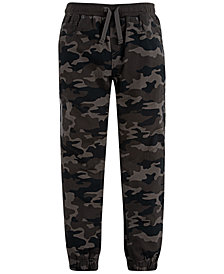 Levi's® Little Boys Slim Tapered-Fit Stretch Camouflage Twill Moto Joggers