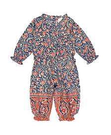 Masala Baby Girl Ellie One Piece Blue Jasmine