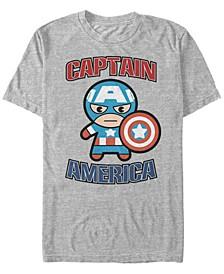 Men's Comic Collection Captain America Kawaii Short Sleeve T-Shirt