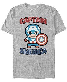 Marvel Men's Comic Collection Captain America Kawaii Short Sleeve T-Shirt