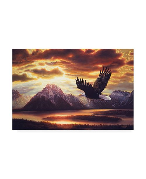 "Trademark Global R W Hedge Sacred Vigil Canvas Art - 36.5"" x 48"""