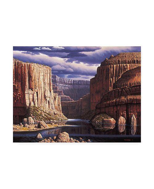 "Trademark Global R W Hedge Return to Earth Canvas Art - 15.5"" x 21"""
