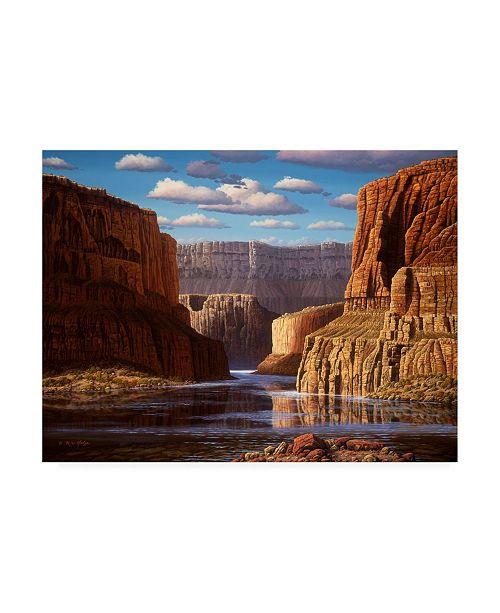 "Trademark Global R W Hedge Pristine Sanctuary Canvas Art - 19.5"" x 26"""