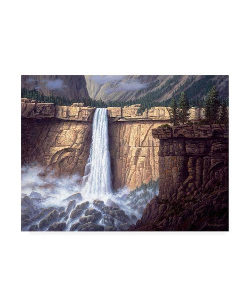 "Trademark Global R W Hedge Canyon Cascade Canvas Art - 15.5"" x 21"""