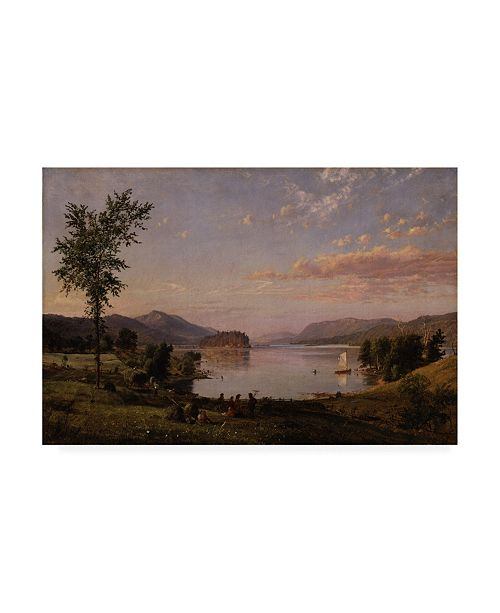 "Trademark Global Jasper Francis Cropsey Greenwood Lake, New Jersey Canvas Art - 36.5"" x 48"""
