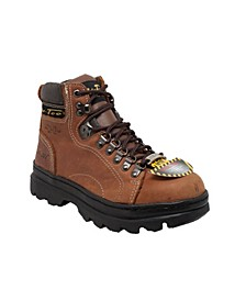 "Women's 6"" Steel Toe Work Boot"