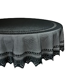 "Design Imports Nordic Lace Table Cloth 70"" Round"