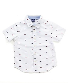 Bear Camp Little and Big Boys Printed Button Down Shirt