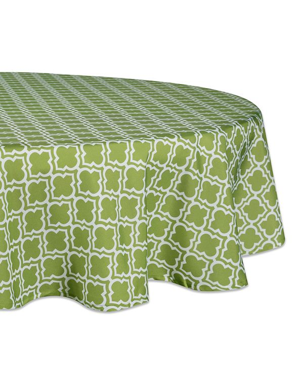 "Design Imports Lattice Outdoor Tablecloth 60"" Round"
