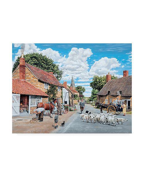 """Trademark Global Trevor Mitchell The Village Farrier Canvas Art - 27"""" x 33.5"""""""