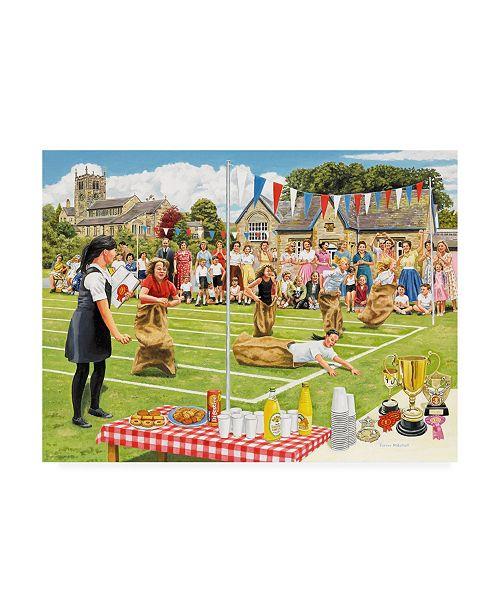 "Trademark Global Trevor Mitchell School Sports Day Canvas Art - 15.5"" x 21"""