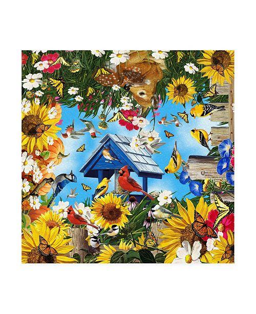 """Trademark Global William Vanderdasson Life in the Garden Canvas Art - 15.5"""" x 21"""""""