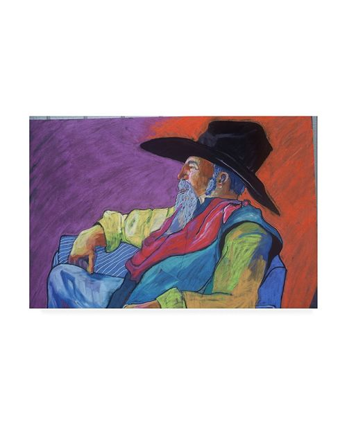 "Trademark Global Pat Saunders-White Old West Small Canvas Art - 15.5"" x 21"""