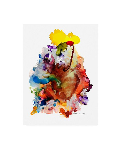 "Trademark Global Pat Saunders-White Heartfelt Alcohol Ink Xt Canvas Art - 19.5"" x 26"""