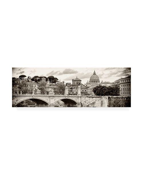"Trademark Global Philippe Hugonnard Dolce Vita Rome 2 City of Bridge III Canvas Art - 15.5"" x 21"""