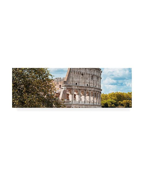 "Trademark Global Philippe Hugonnard Dolce Vita Rome 2 Colosseum Roma VII Canvas Art - 19.5"" x 26"""