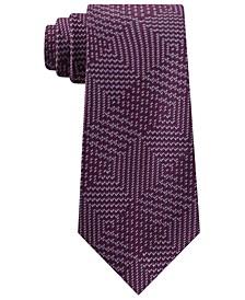 Men's Textured Geometric Patchwork Tie