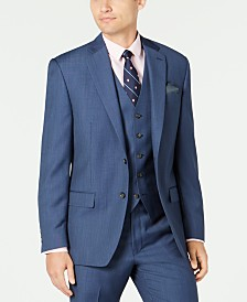 Lauren Ralph Lauren Men's Classic-Fit UltraFlex Stretch Blue Birdseye Suit Separate Jacket