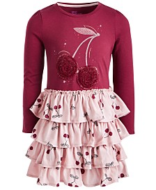 Epic Threads Little Girls Tiered Ruffle Cherry Dress, Created for Macy's