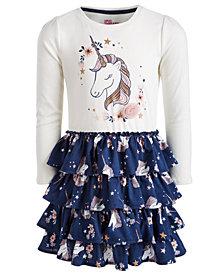 Epic Threads Little Girls Unicorn-Print Ruffle Dress, Created for Macy's