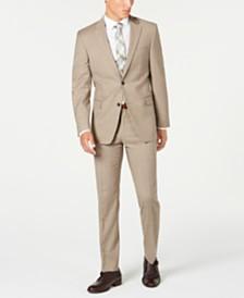 Tommy Hilfiger Men's Modern-Fit THFlex Stretch Tan Sharkskin Suit Separates