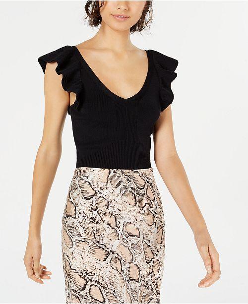 Lucy Paris Sarah Ruffle-Knit Top