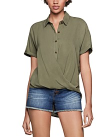 High-Low Wrap Shirt