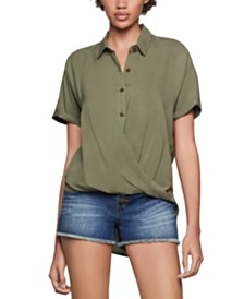 BCBGeneration High-Low Wrap Shirt