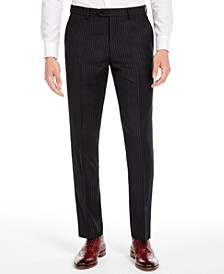 Men's Slim-Fit Black Stripe Suit Separate Pants, Created for Macy's