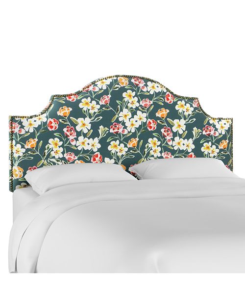 Skyline Rendle Full Nail Button Notched Headboard, Quick Ship