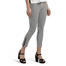 Summer Stripe Ultra Soft Denim Capri