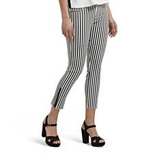 Summer Stripe Ultra Soft Denim Capri