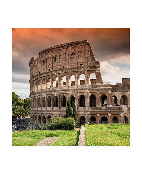 """Trademark Global Philippe Hugonnard Dolce Vita Rome 3 Colosseum of Rome at Sunset Canvas Art - 15.5"""" x 21"""""""