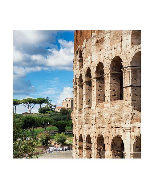 "Trademark Global Philippe Hugonnard Dolce Vita Rome 3 Colosseum Architecture Canvas Art - 15.5"" x 21"""